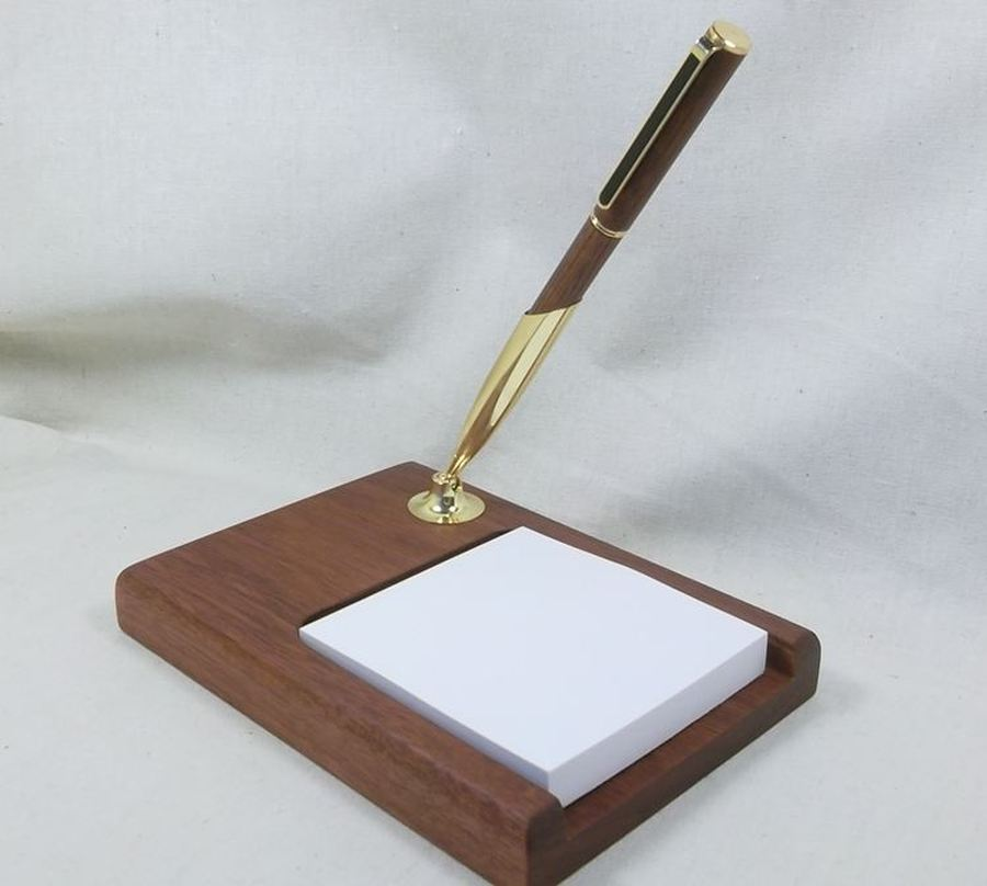 Jarrah Pen Stand with notepad